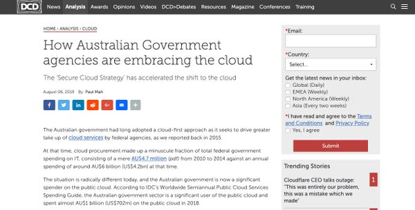 DCD: How Australian Government agencies are embracing the cloud