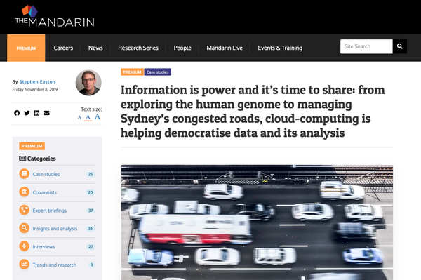 The Mandarin: Information is power and it's time to share