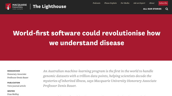 The Lighthouse: World-first software could revolutionise how we understand disease